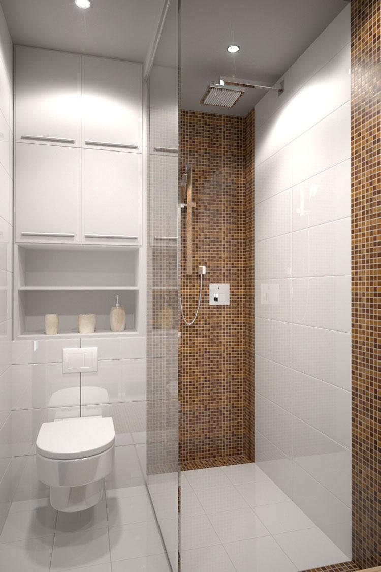 Progetto per bagno piccolo moderno n.10