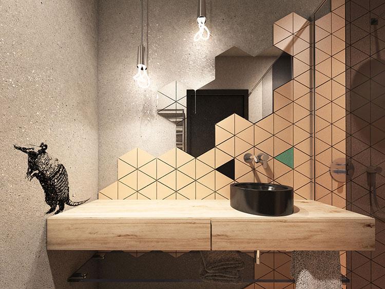 Progetto per bagno piccolo moderno n.11
