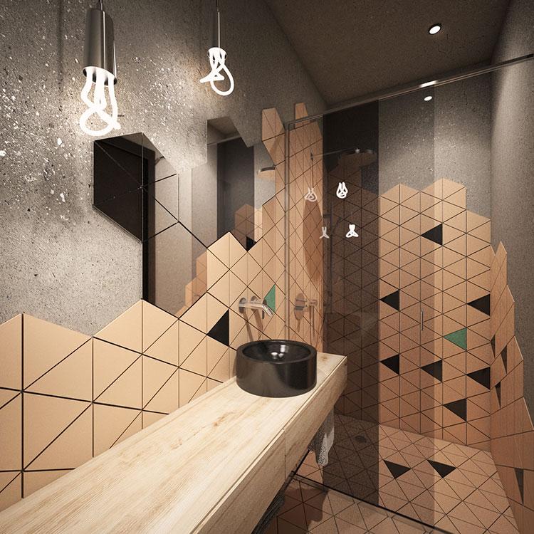 Progetto per bagno piccolo moderno n.12
