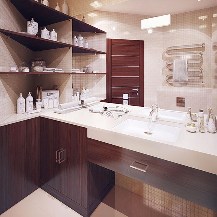 Progetto per bagno piccolo moderno n.14