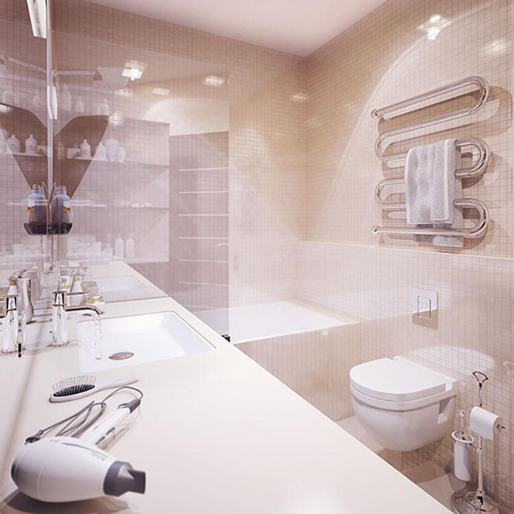 Progetto per bagno piccolo moderno n.15