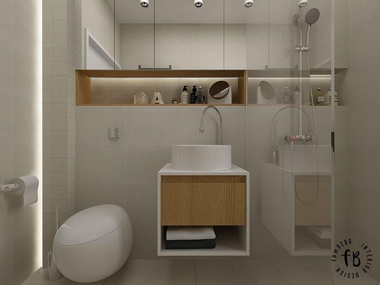 Progetto per bagno piccolo moderno n.17