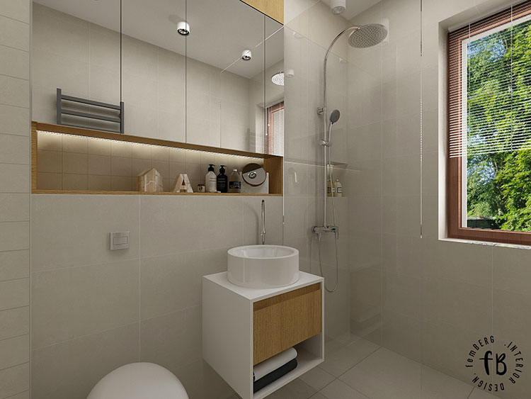 Progetto per bagno piccolo moderno n.18