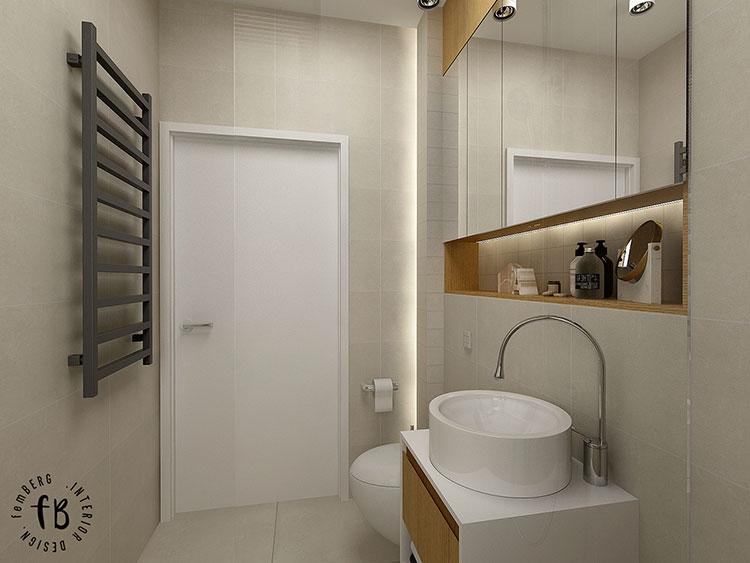 Progetto per bagno piccolo moderno n.19