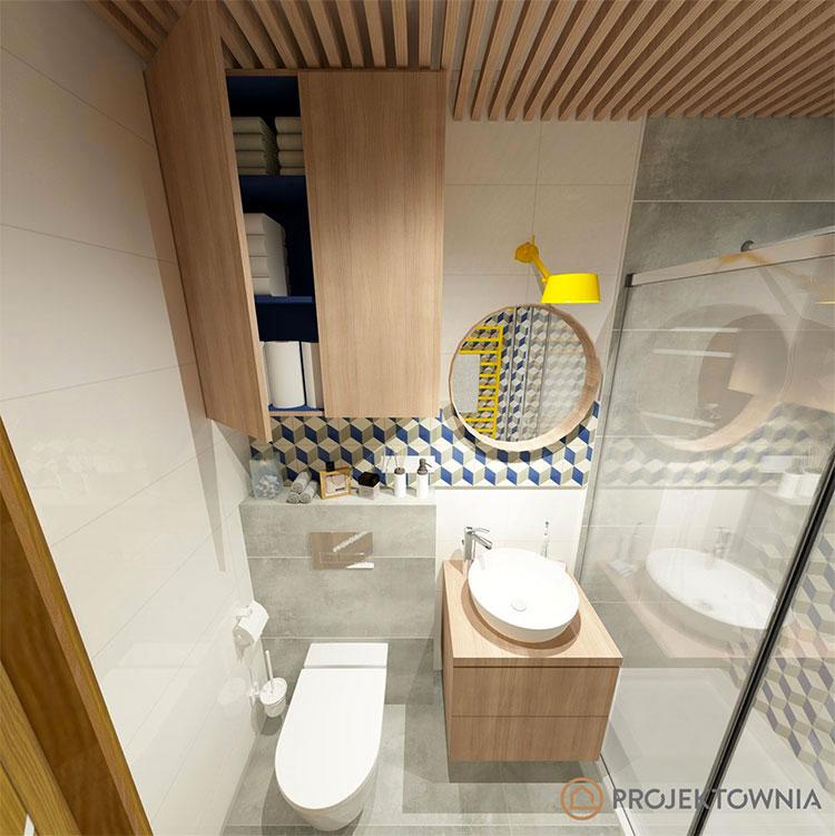 Progetto per bagno piccolo moderno n.21