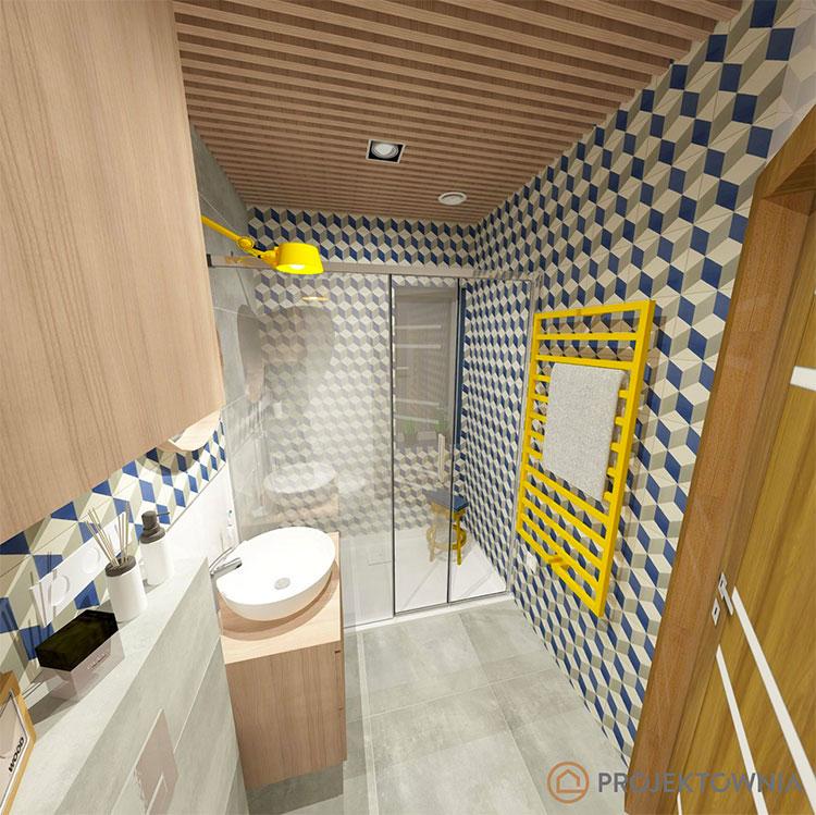 Progetto per bagno piccolo moderno n.22