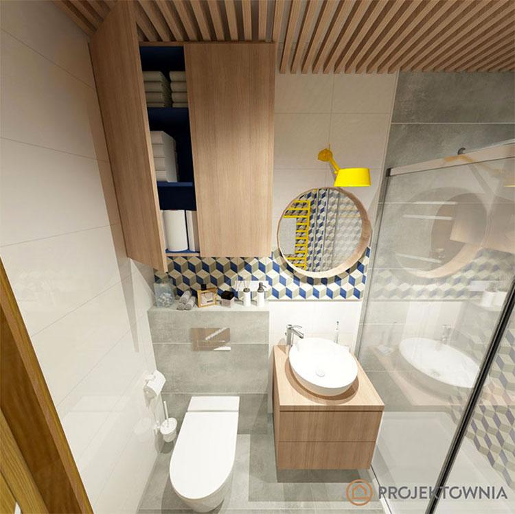 Progetto per bagno piccolo moderno n.23