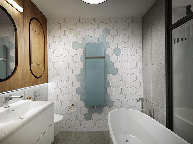 Progetto per bagno piccolo moderno n.24