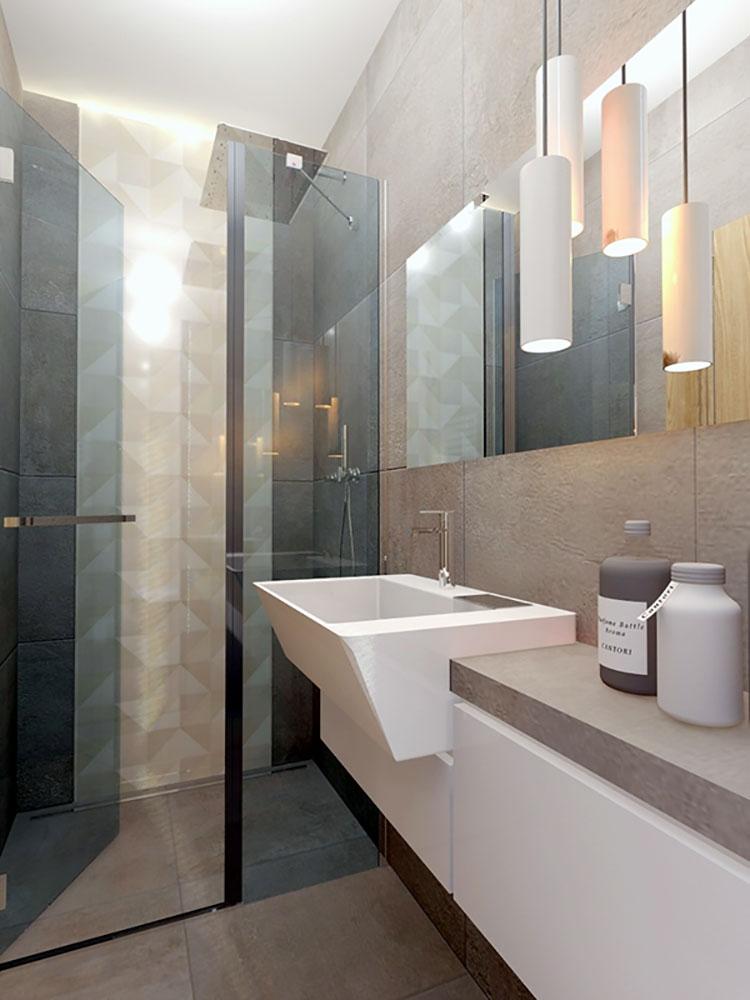 Progetto per bagno piccolo moderno n.28