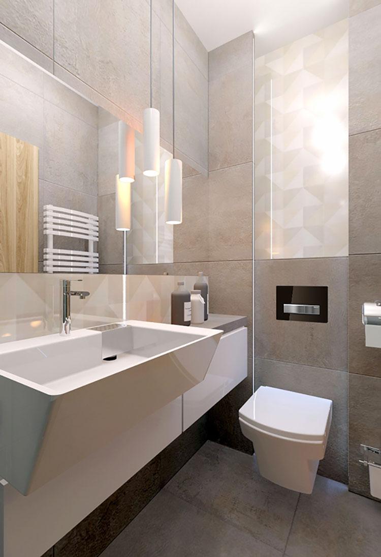 Bagno piccolo moderno ecco 25 progetti di design for Design arredo bagno