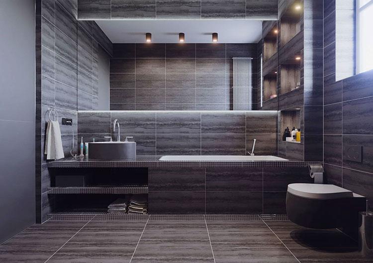 Progetto per bagno piccolo moderno n.30