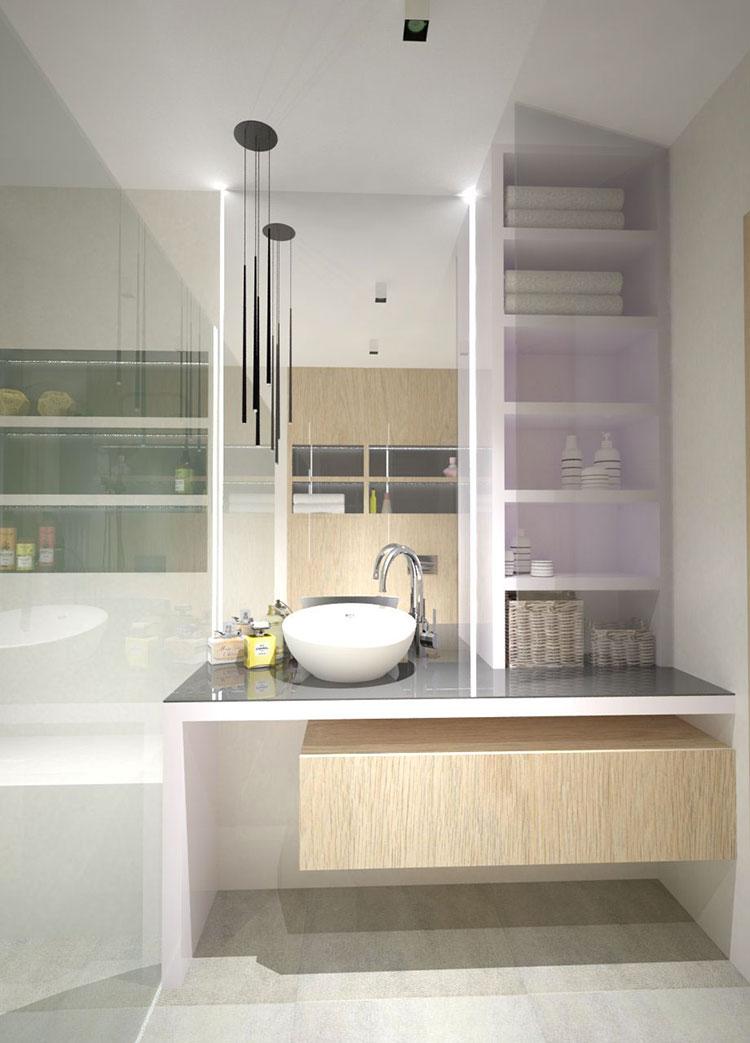 Progetto per bagno piccolo moderno n.33