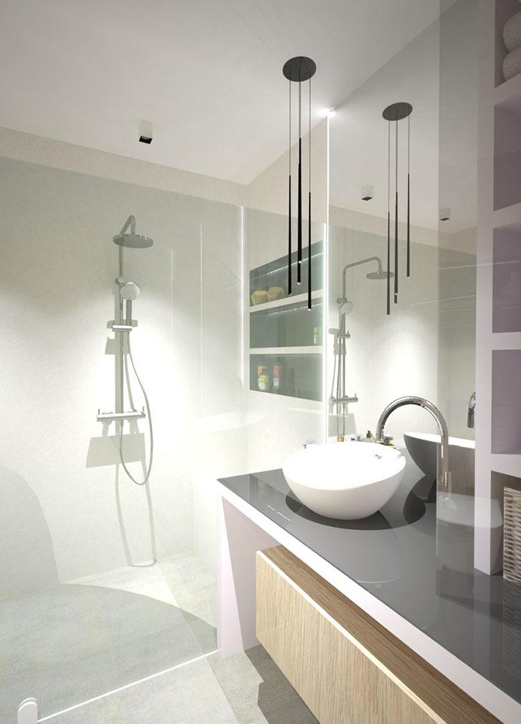 Progetto per bagno piccolo moderno n.34