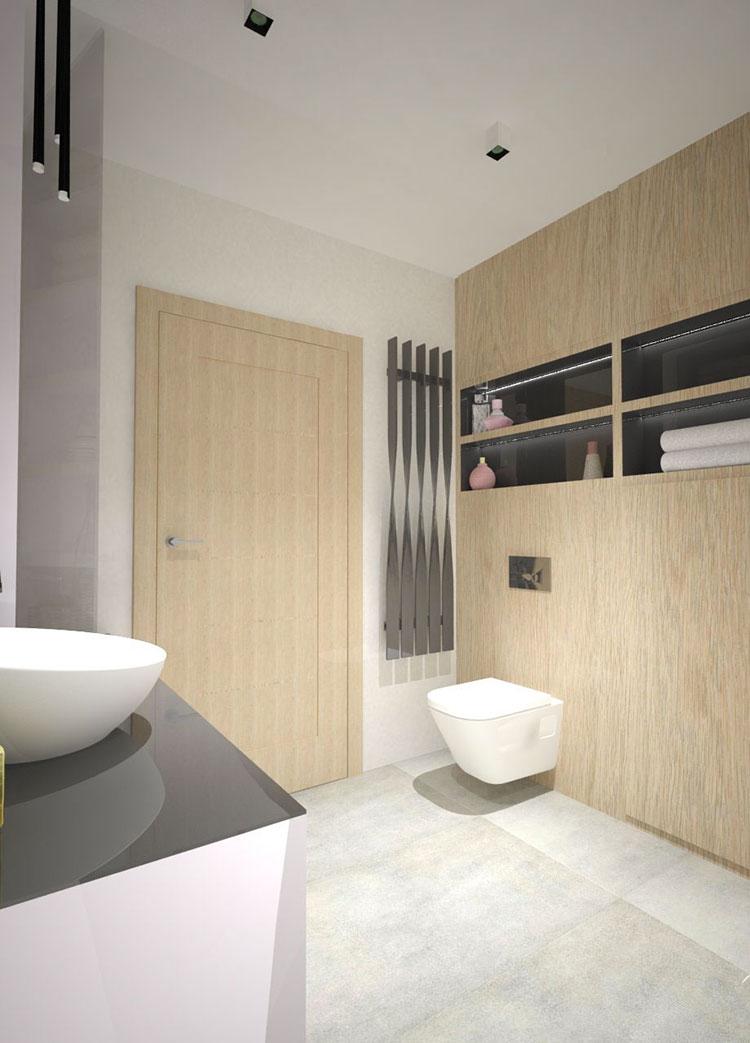 Progetto per bagno piccolo moderno n.35