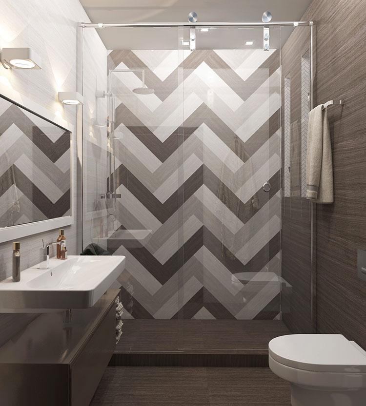 Progetto per bagno piccolo moderno n.36