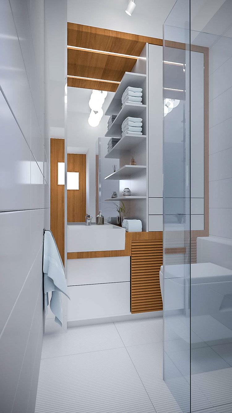 Bagno piccolo moderno ecco 25 progetti di design - Progetti bagno moderno ...