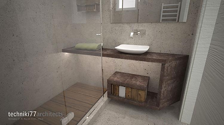 Progetto per bagno piccolo moderno n.38