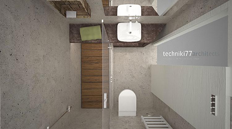 Progetto per bagno piccolo moderno n.39
