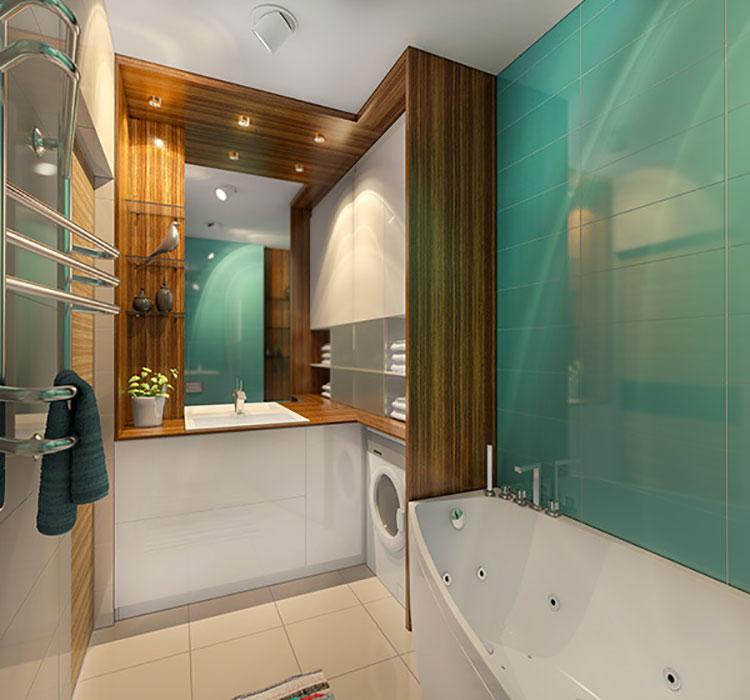 Progetto per bagno piccolo moderno n.40