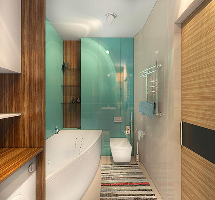 Progetto per bagno piccolo moderno n.41