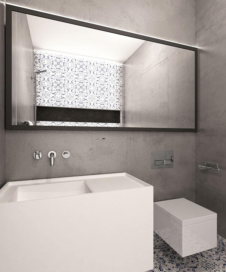 Progetto per bagno piccolo moderno n.46