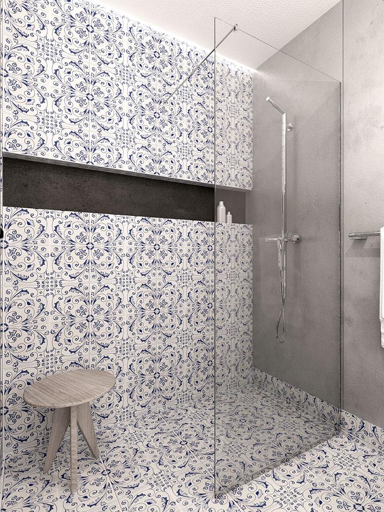 Progetto per bagno piccolo moderno n.47