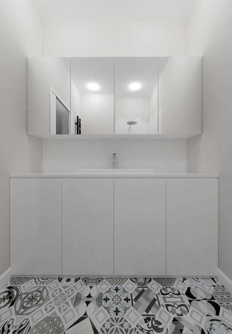 Progetto per bagno piccolo moderno n.48