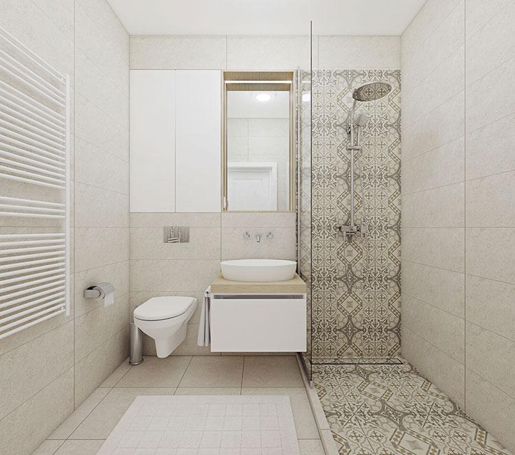 Progetto per bagno piccolo moderno n.50