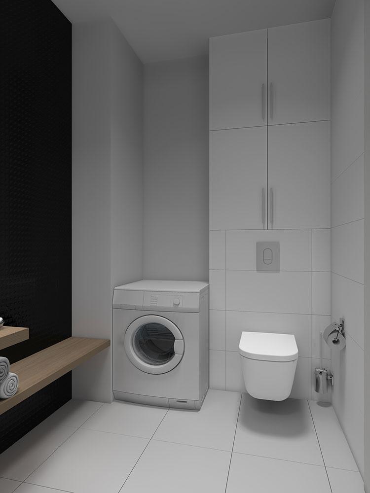 Progetto per bagno piccolo moderno n.52