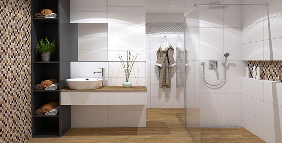 Idee bagno piccolo moderno