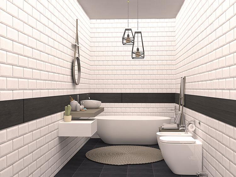 Progetto di bagno piccolo con vasca n.02