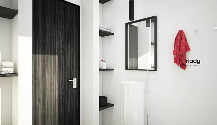 Progetto di bagno piccolo con vasca n.07