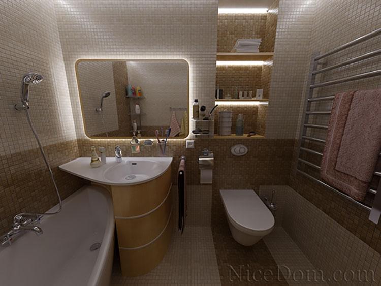 Progetto di bagno piccolo con vasca n.11