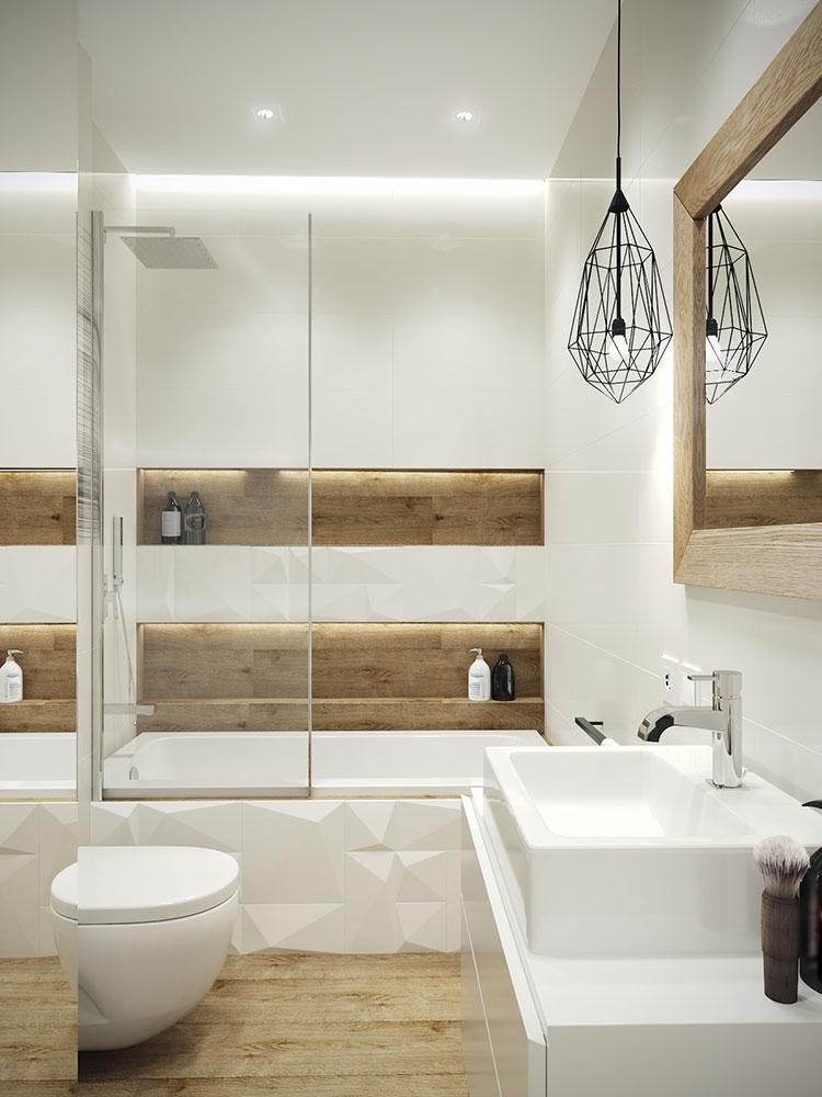 Progetto di bagno piccolo con vasca n.12