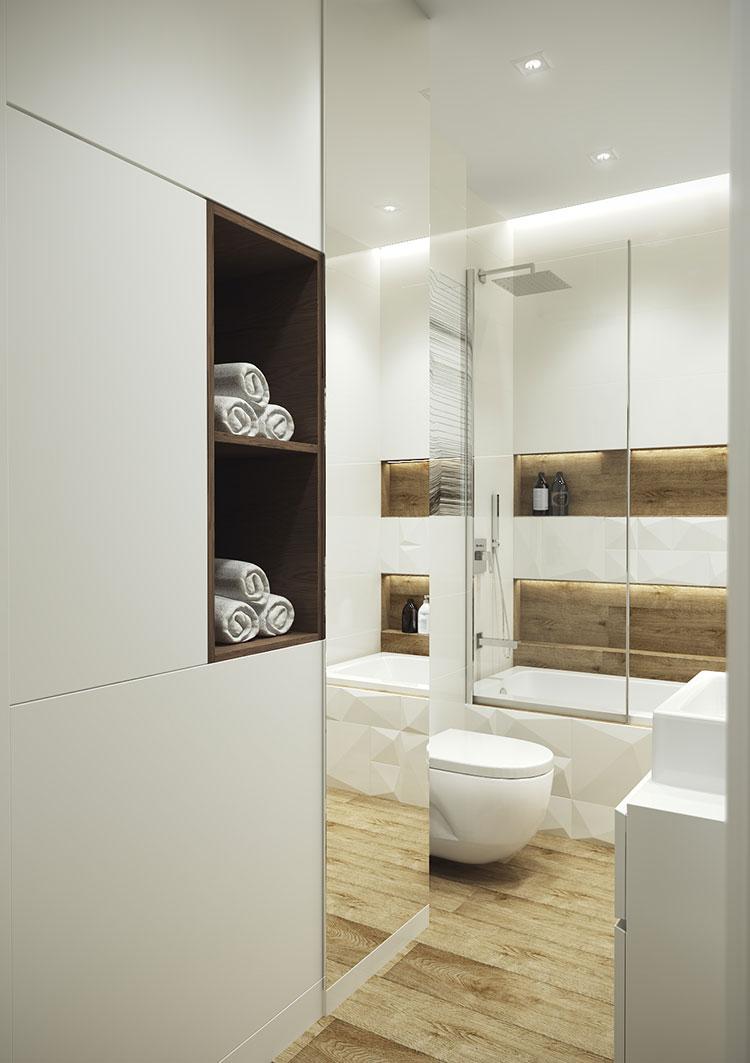 Progetto di bagno piccolo con vasca n.13