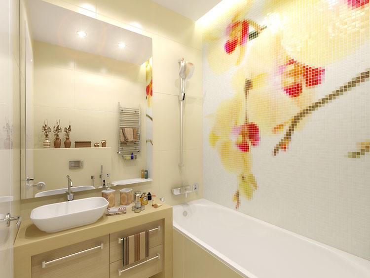 Progetto di bagno piccolo con vasca n.14
