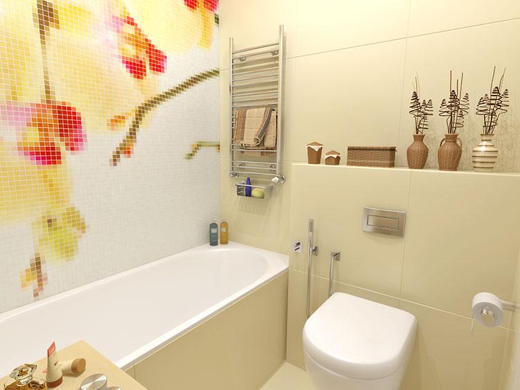Progetto di bagno piccolo con vasca n.15