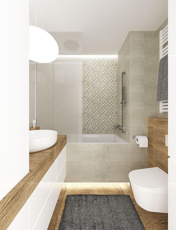 Progetto di bagno piccolo con vasca n.17