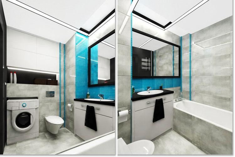 Progetto di bagno piccolo con vasca n.18