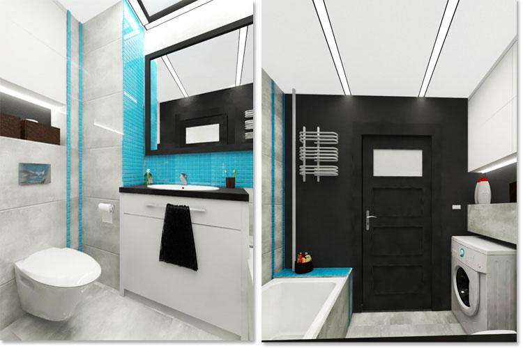 Progetto di bagno piccolo con vasca n.19