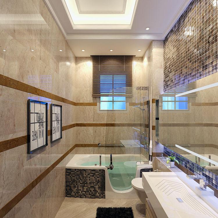 Progetto di bagno piccolo con vasca n.23