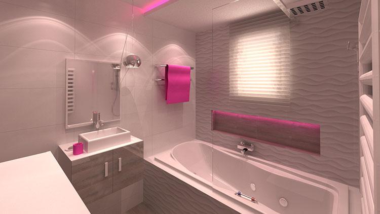 Progetto di bagno piccolo con vasca n.27