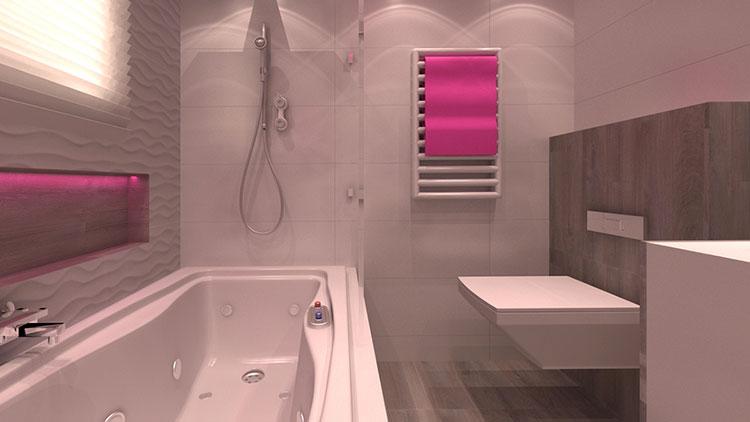 Progetto di bagno piccolo con vasca n.28