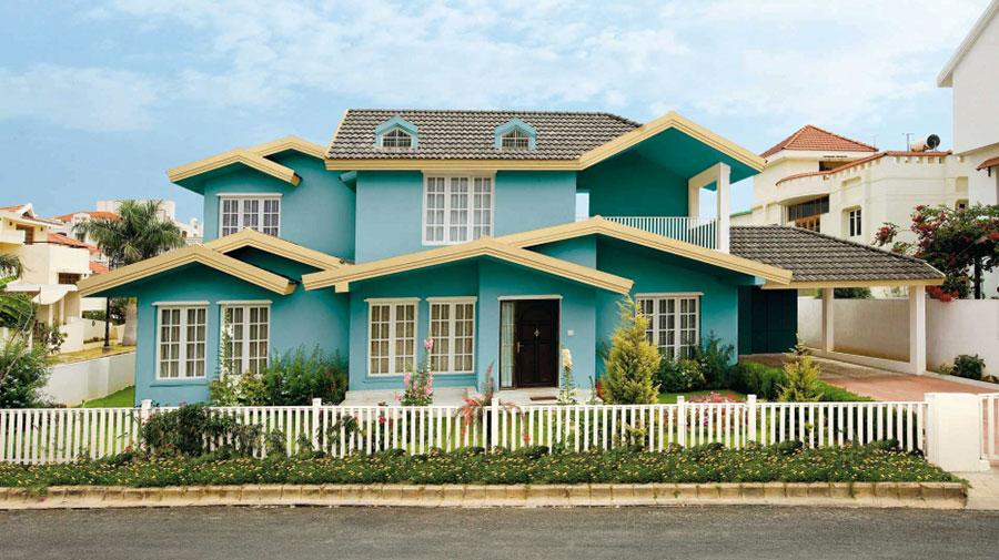 Colori per esterni della casa 60 foto di facciate con for Colori per esterni villette