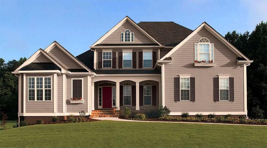 Colori per esterni della casa 60 foto di facciate con tinte diverse - Colore esterno casa tortora ...