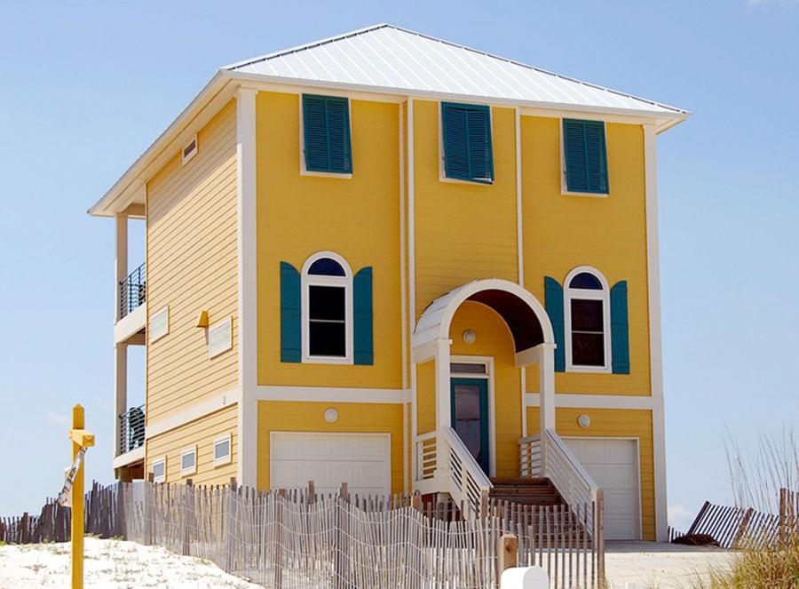 Idee per i colori dele pareti esterne di una casa al mare n.03
