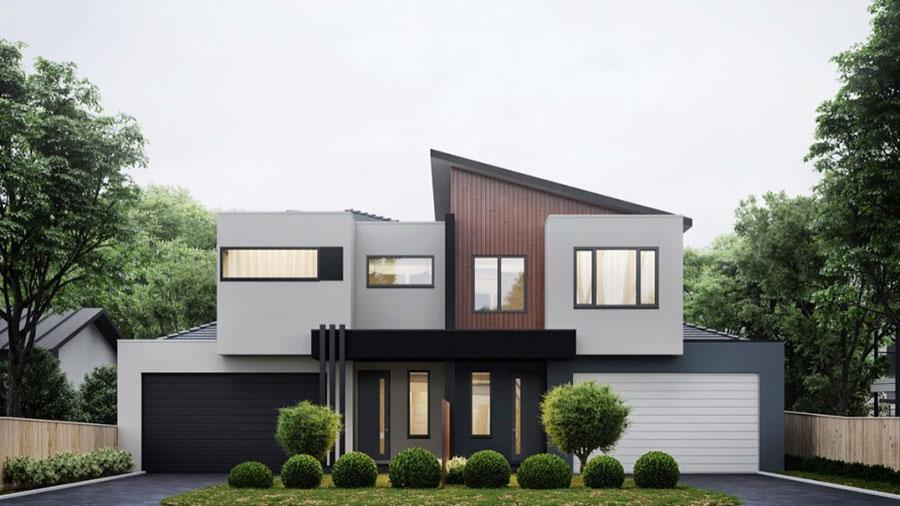 Idee per i colori dele pareti esterne di una casa moderna n.04