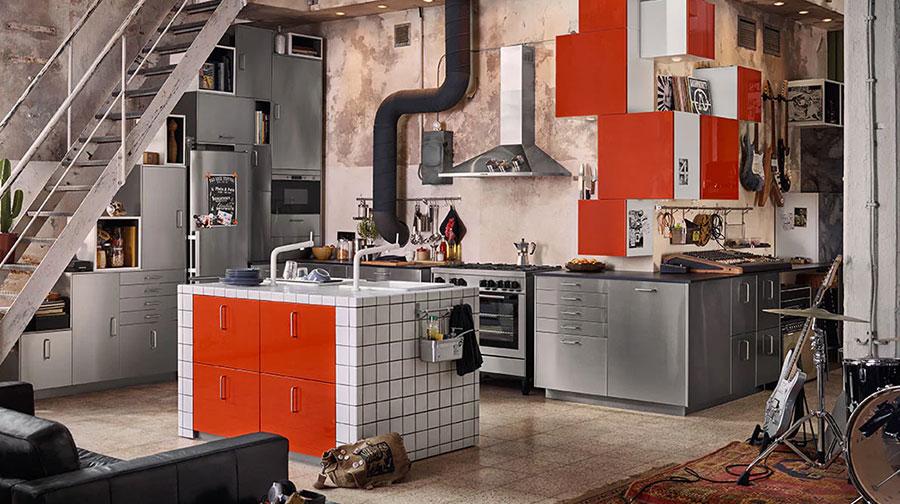 Modello di cucina con isola Ikea n.03