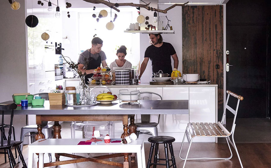 Modello di cucina con isola Ikea n.05