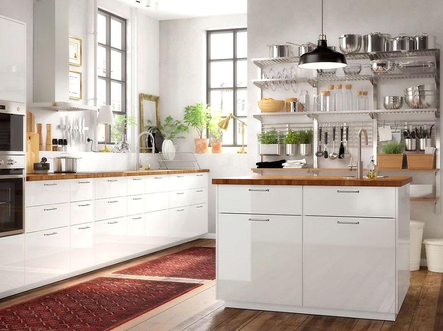 Modello di cucina con isola Ikea n.07